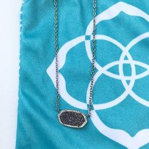 Kendra Scott Elise Gold Platinum Druzy Necklace